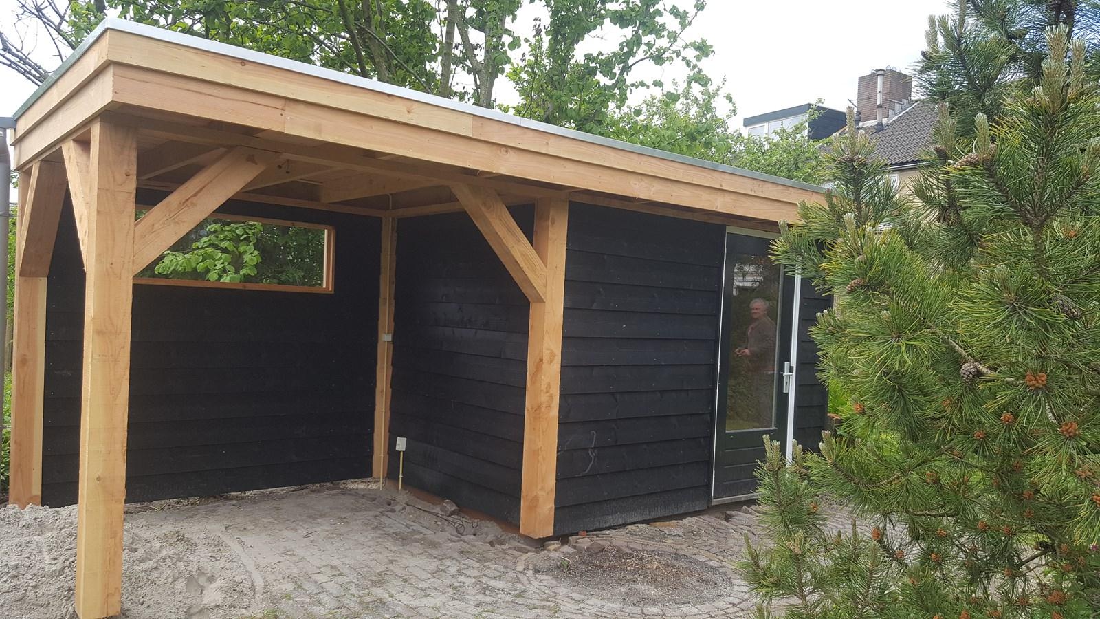 Project schitterende veranda met berging gebouwd for Berging inrichten