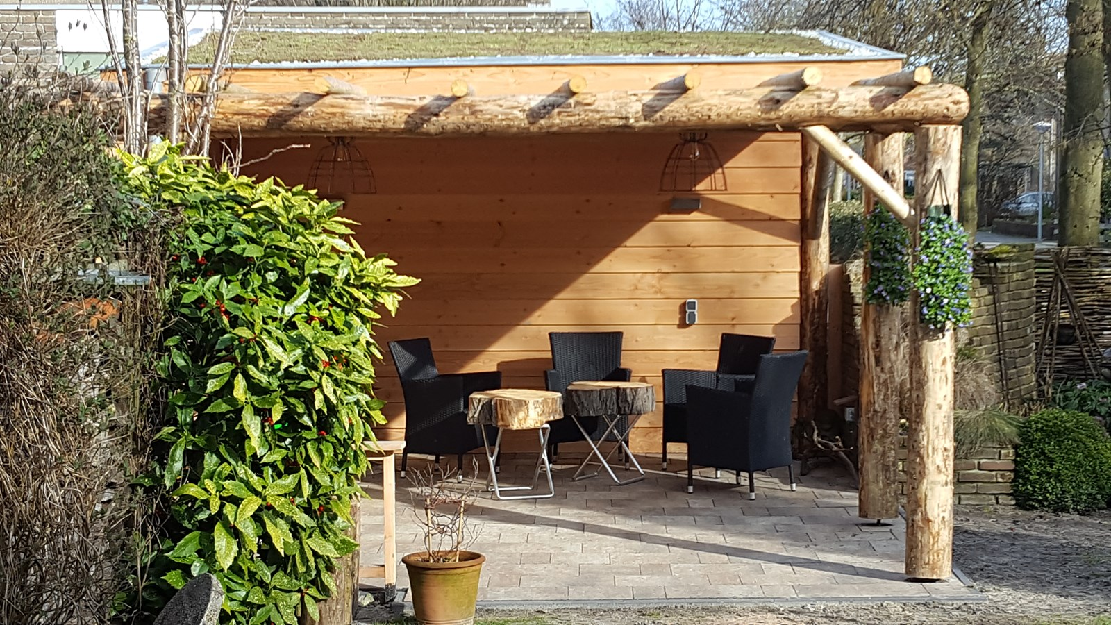 Project schitterende veranda met sedum dak - Dak van pergola ...