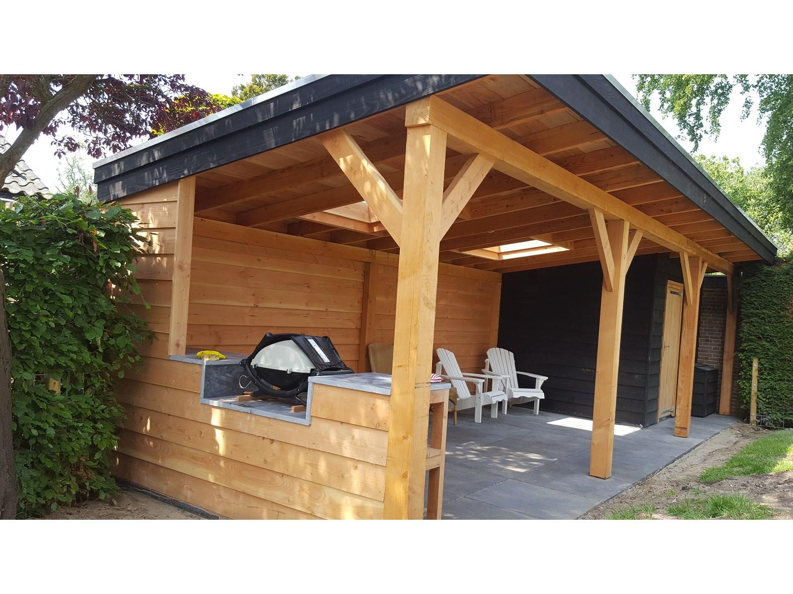 Project luxe veranda met berging en buitenkeuken for Berging met veranda