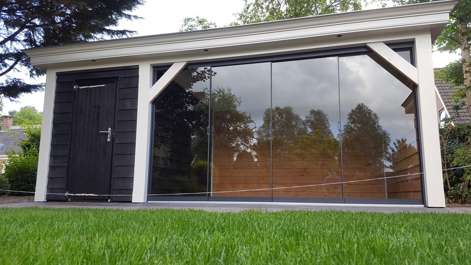 Project luxe veranda met berging for Berging met veranda